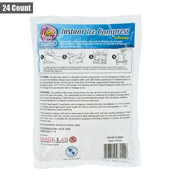 Vida Mia Instant Ice Compress Pack Cold Therapy Pain Relief First Aid 6x8 24ct