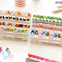 Mini  Forest Animals Memo Pad Sticky Notes Shopping Check List Escolar Papelaria School Supply Post it Label