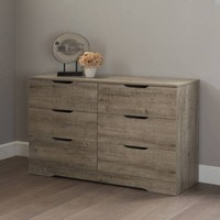 South Shore Holland Double 6-Drawer Dresser, Multiple Finishes - Walmart.com
