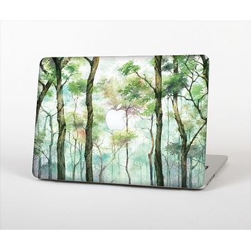 "The Watercolor Glowing Sky Forrest Skin Set for the Apple MacBook Pro 13"" with Retina Display"