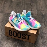 Adidas Yeezy Boost 350 V2 Rainbow Sneakers