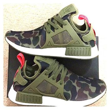 """""""Adidas"""" NMD XR1 Duck Camo Women Men Running Sport Casual Shoes Sneakers Camouflage Green"""