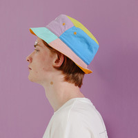 Tyakasha x Ryan The Convenience Store Color Block Bucket Hat