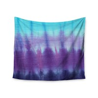 """Ombre Tie Dye"" Blue Purple Trendy Boho Wall Tapestry"