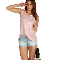 Sale-pink Dream Without Fear Tank Top