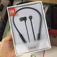 Beats X Stylish Wireless Sport Magic Sound Bluetooth Wireless Hands Headset MP3 Music Headphone with Microphone Line-in Socket TF Card Slot Black I