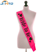 Sweet wedding favors decoration bridal sets bride to be satin sash for bachelorette party Hen Party fit women dress