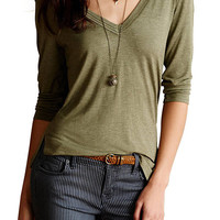 Cupshe Another Day Plunging Slim Top