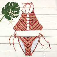 Cupshe Hot New York Stripe Bikini Set
