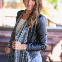 Removable Sweater -Living on the Edge Moto Jacket - Black