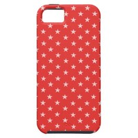 Poppy Red And White Stars iPhone 5 Case
