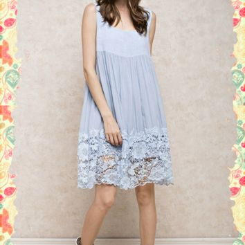 Linen and Lace Dress
