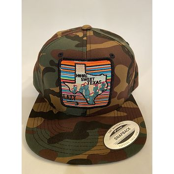 "Lazy J Camo 4"" Home Sweet Texas Cap"