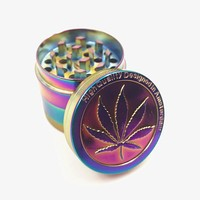Metal Zinc Alloy 40mm Tobacco Grinder Rainbow color Beautiful Herb Herbal Spice Crusher Smoking Pipe Accessories Grinder
