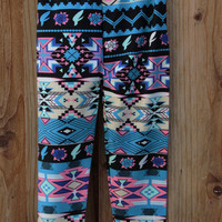 TODDLER GIRLS' SOUTHWESTERN BLUES LEGGINGS | Paper Kranes