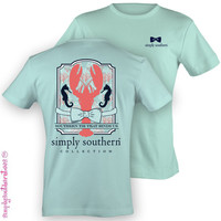 Simply Southern Collection Lobster Binds Us Sweet Girlie Bright T Shirt