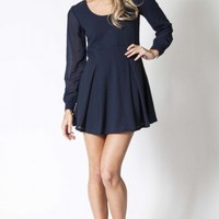 Boston dress in navy  | Show Pony Fashion online shopping