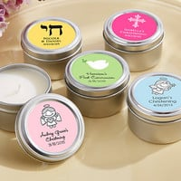 Candle Tin Favors (Christening)