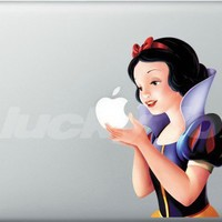 Snow White--Apple decal for Macbook/Pro/Air iPhone iPad sticke | luckyfox - Accessories on ArtFire