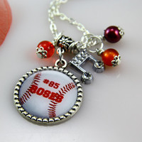 Baseball Necklace,Sports Teachers Necklace,Teachers Gifts, Teachers Mother Birthday Necklace, Personalized Jewelry for Women