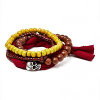 Icon Brand Bracelet in Mixed Beads and Fabric - Jewellery - Accessories | Shop for Men's clothing | The Idle Man