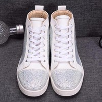 cc DCCK2 Christian Louboutin White Sea Crystal