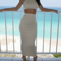 LED VEST SKIRTS TWO-PIECE PURE COLOR SLEEVELESS SUMMER WEAR SEXY CULTIVATE ONE'S MORALITY
