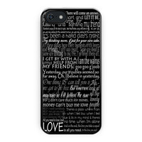 The Beatles Song Lyric iPhone 5/5S Case