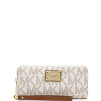 Michael Michael Kors Jet Set Travel Continental Wallet, Vanilla LAVELIQ