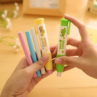 1-Pack Creative Mechanical Pencil Erasers , Press-type Rubber Eraser for Kids