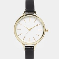 New Look Classic Skinny Strap Watch at asos.com