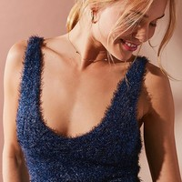 UO Valerie Fuzzy Sparkle Tank Top | Urban Outfitters