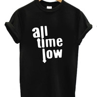 All Time Low T Shirt Black Men Women Unisex Funny Cool Popular Tumblr pop punk band tee blog internet fashion