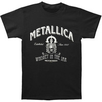 Metallica Men's  Whiskey Label T-shirt Black