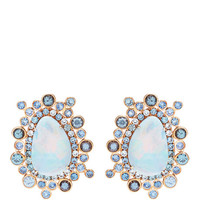 Ophelia Earrings With Opals,Blue Sapphires, And Assorted Color Spinel by Shawn Ames - Moda Operandi