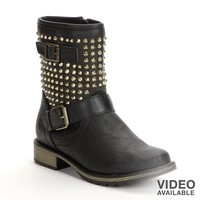 Studded Midcalf Boots