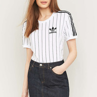 adidas Originals White Pinstriped Short Sleeve T-shirt - Urban Outfitters