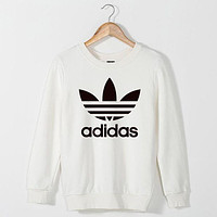 Adidas women's fashion casual long-sleeved sweater pullover F