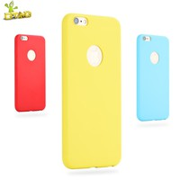 OTAO Phone Case For iPhone 6 6S Plus 7 Plus Matte Plain Case Ultra-Thin Soft Silicon Back Cover Frosted Candy Color