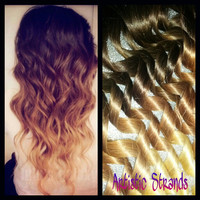 Ombre Hair Extensions /FULL Set / 22-24 Inches Long / Clip In Hair / 100 Percent Real REMY Hair
