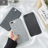 QINUO Cloth Shell Simple Phone Case for iphone 6 6s 7 Plus 8 X Case Soft Silicone Fabric Textile For iphone 7 Plus Back Cover