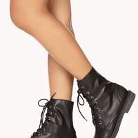 Street-Chic Combat Boots