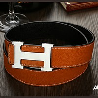 Hermes tide brand fashion wild belt Brown