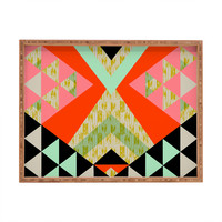 Pattern State Arrow Quilt Rectangular Tray