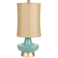Kotu Turquoise Gold Table Lamp