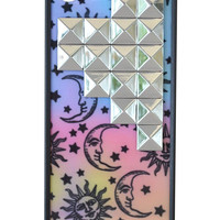 Sun & Moon Silver Studded Pyramid iPhone 5/5s Case