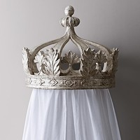 Pewter Canopy Bed Crown