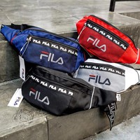 """""""Fila"""" Women Personality Casual Vintage Embroidery Letter Waist Bag Messenger Bag"""