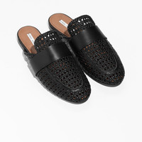 Woven Slip On Loafers - Black - Slippers - & Other Stories US