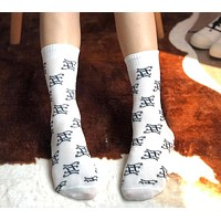 FENDI Fashion Women Men F Letter Cotton Sport Socks
